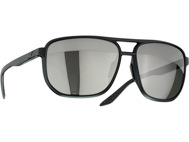 100% Konnor Aviator Square Gafas, negro/gris